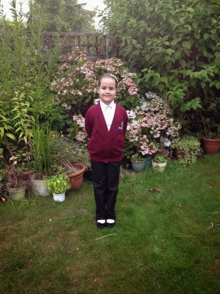Kaycee ready for year 5