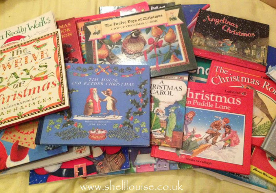A selection of Christmas story books