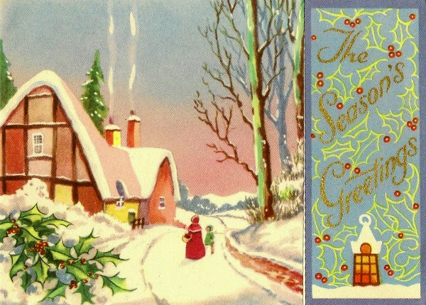 Week 11 of my 52 weeks of gratitude - this is a vintage Christmas card design