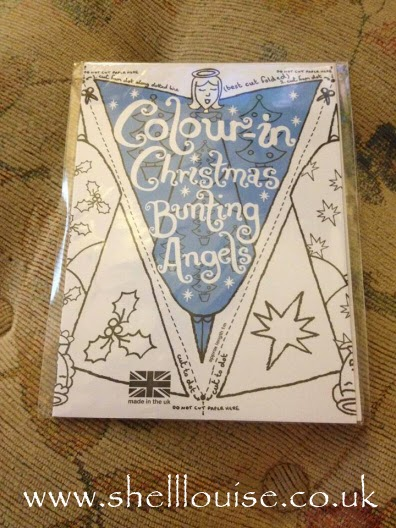 Christmas colouring bunting angels