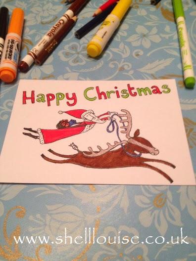 Coloured Christmas card