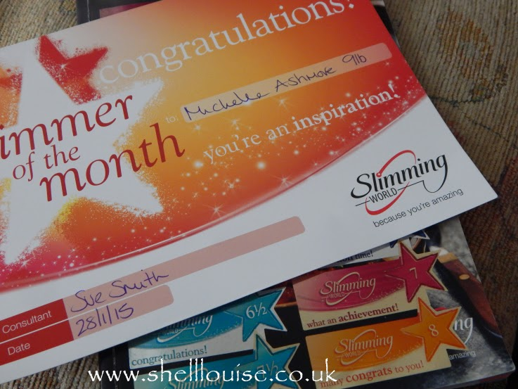 1lb lost - Slimming World slimmer of the month certificate
