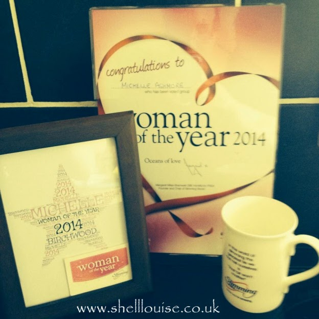Look back at 2014 - August - I won Slimming World Woman of the year