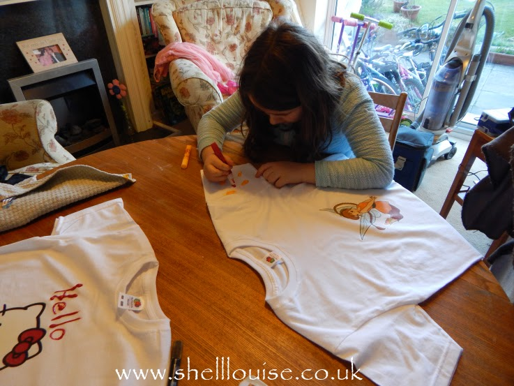 designing t-shirts - using the fabric paints to add more decoration