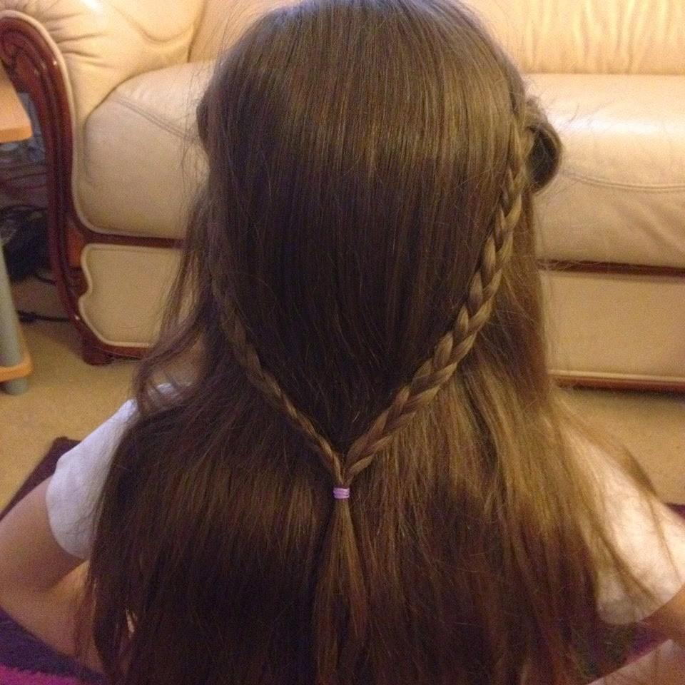 Ella's hair in plaits