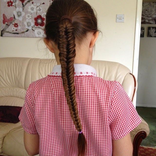 Ella's fishtail braid