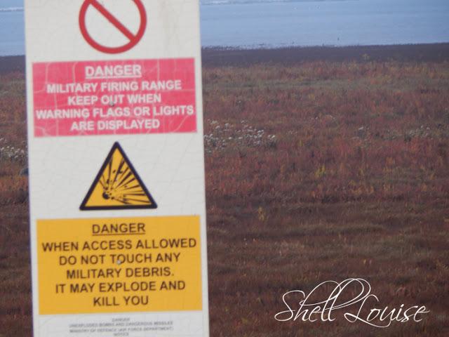 Donna Nook Nature Reserve - RAF warning sign