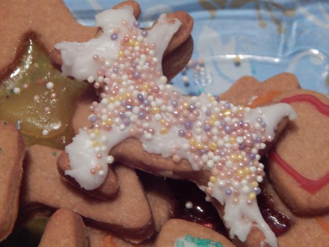 Close up of reindeer cookie
