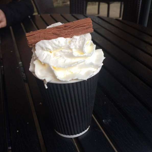 Hot chocolate, cream and flake - Mother's Day 2016