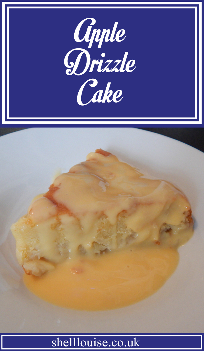 Apple drizzle cake