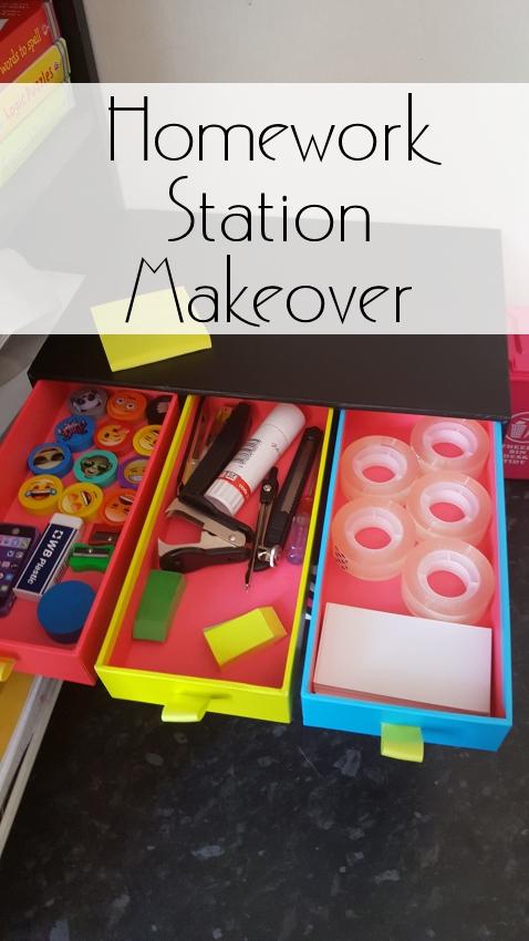 homework station makeover