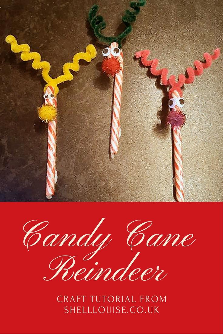 Candy Cane Reindeer Craft Tutorial