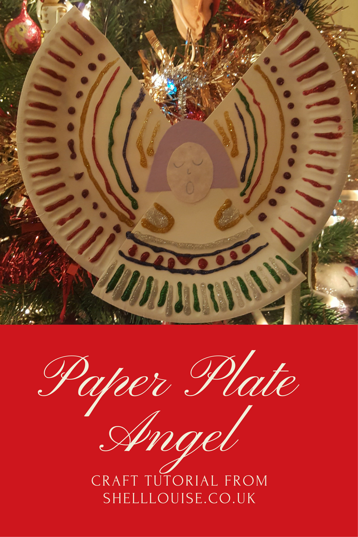 Paper plate angel Christmas decoration tutorial