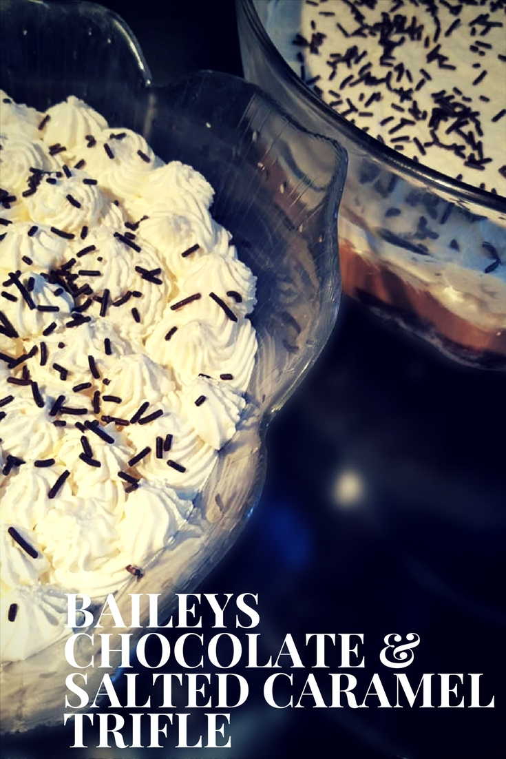 Baileys Chocolate and Salted Caramel Trifle
