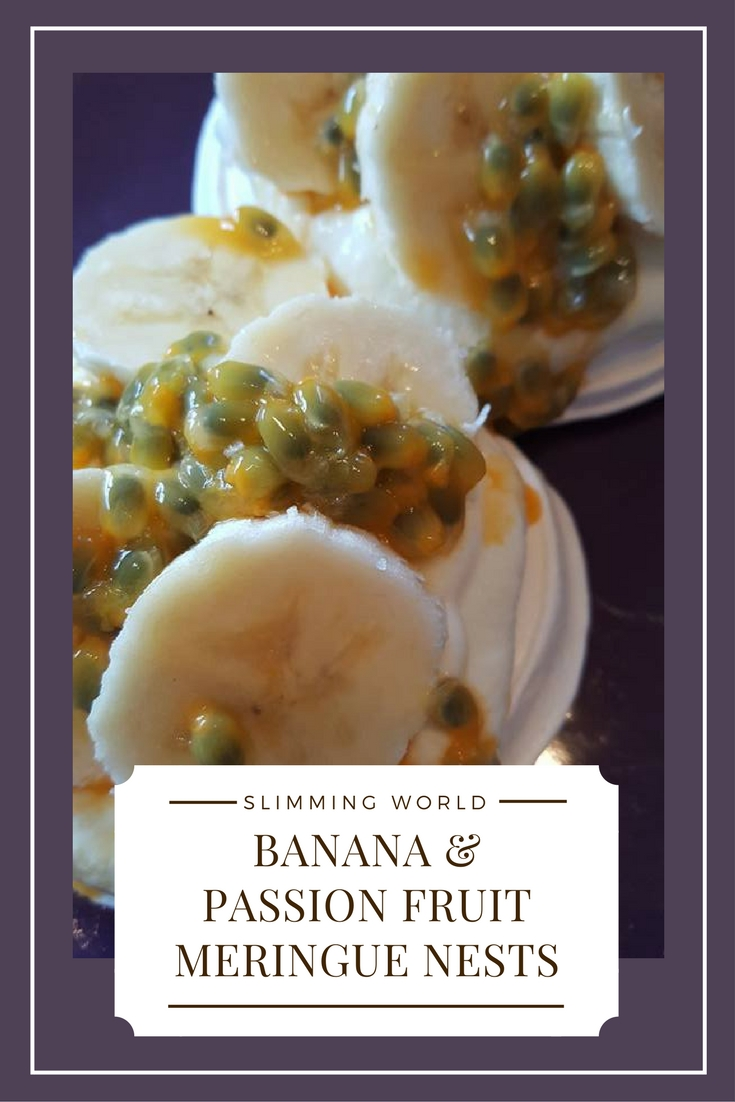 Banana and passion fruit meringue nests slimming world recipe