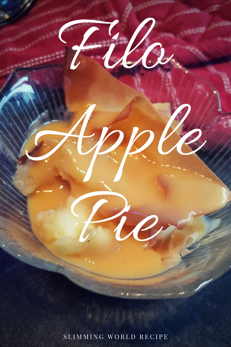 Filo apple pie - a Slimming World Recipe