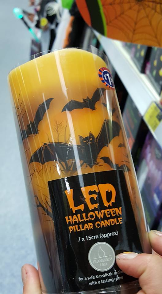 LED candle - Halloween plans