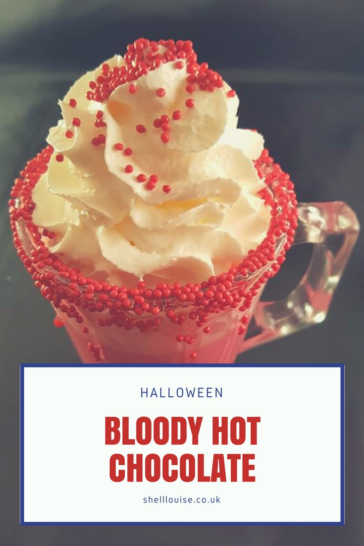Halloween bloody hot chocolate