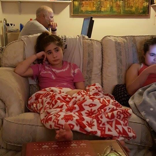 #1day12#pics  Ella watching Hawaii Five-0