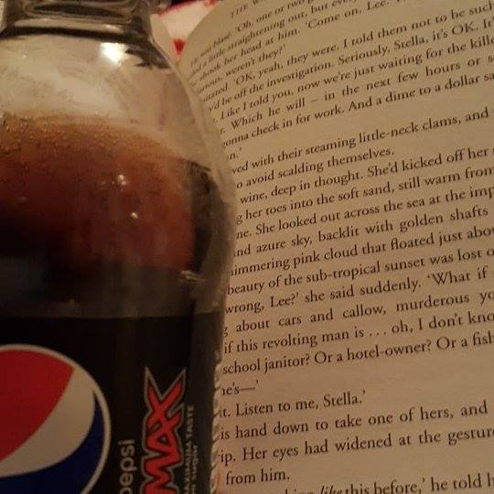 #1day12#pics reading a drinking a Pepsi Max