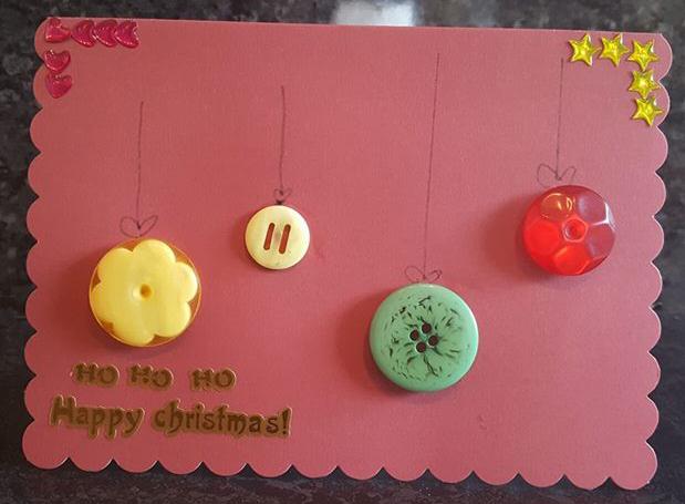 Bostik bloggers Christmas card craft