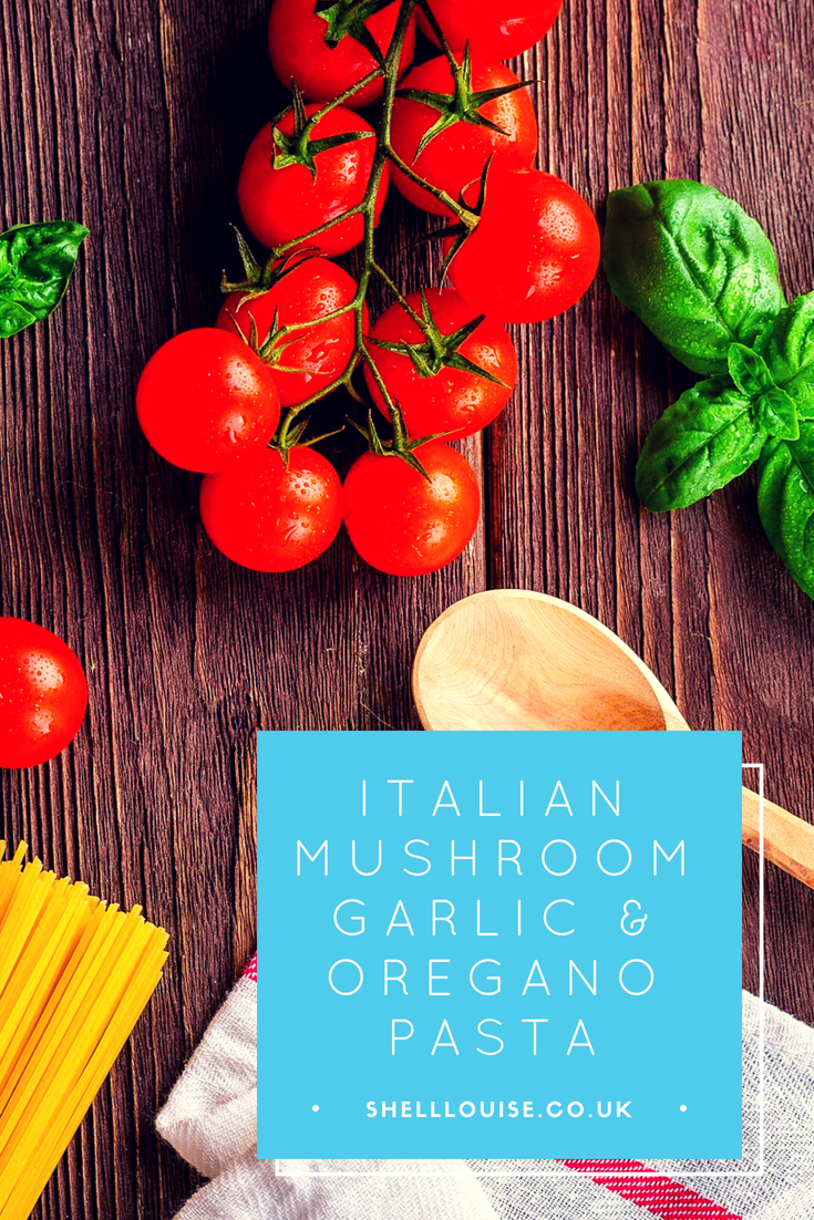 mushroom garlic and basil pasta