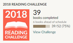 Goodreads 2018 reading challenge 39 books read