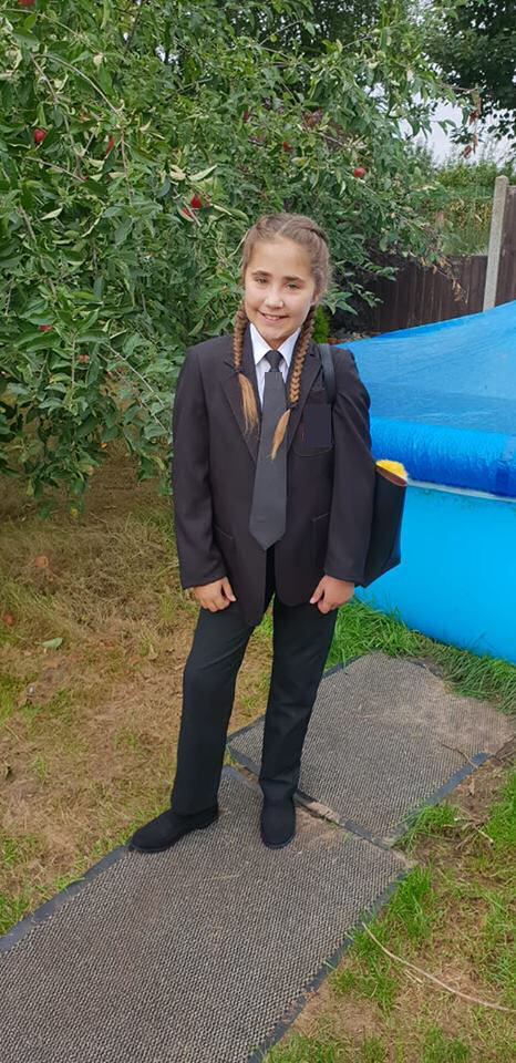 Ella's first day at secondary school