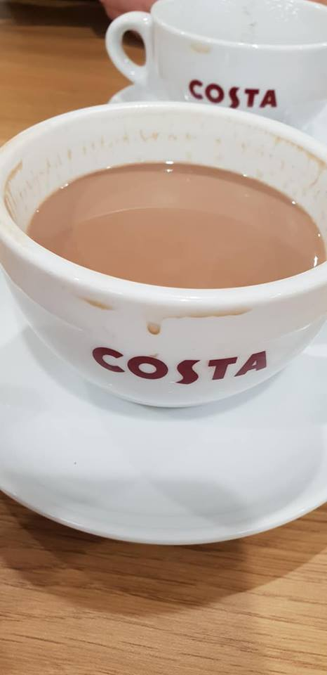 October 1 day 12 pics number 4 - Costa coffee mug filled with mocha
