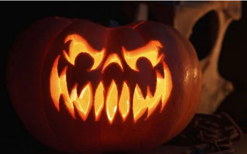 pumpkin carving from The Telegraph