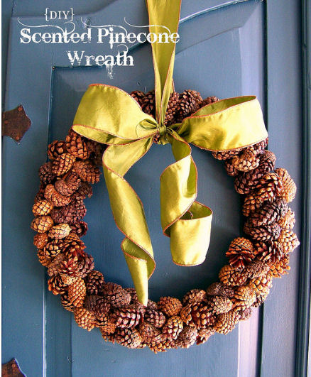 scented pine cone wreath