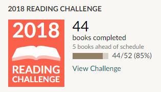 Goodreads 2018 reading challenge - 44 books read