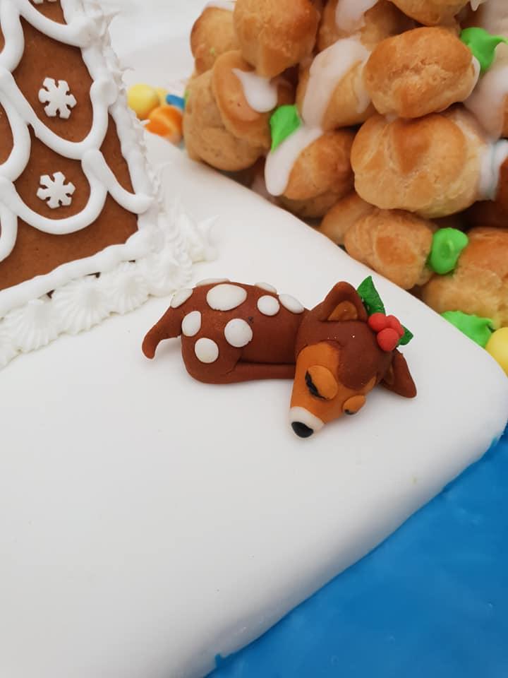sugar paste deer