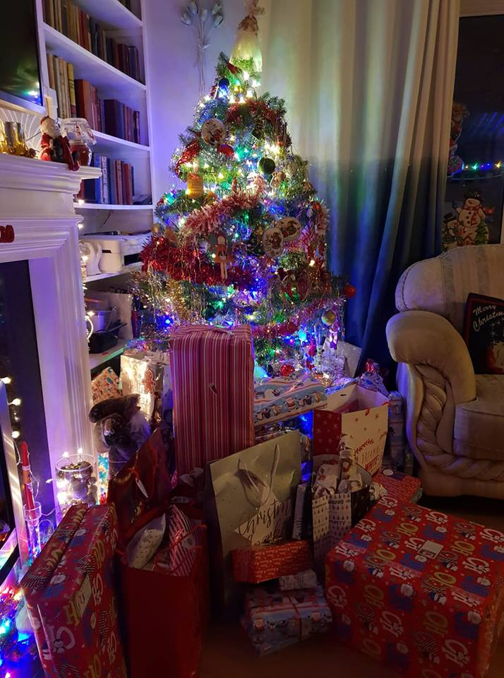 Presents under and around the tree