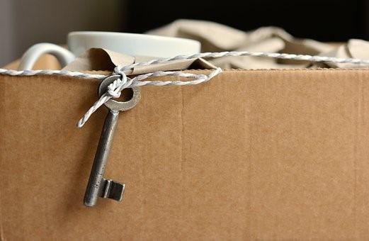 a box with a key