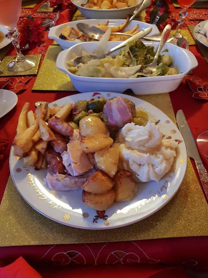 Christmas day photos 2018 - my dinner