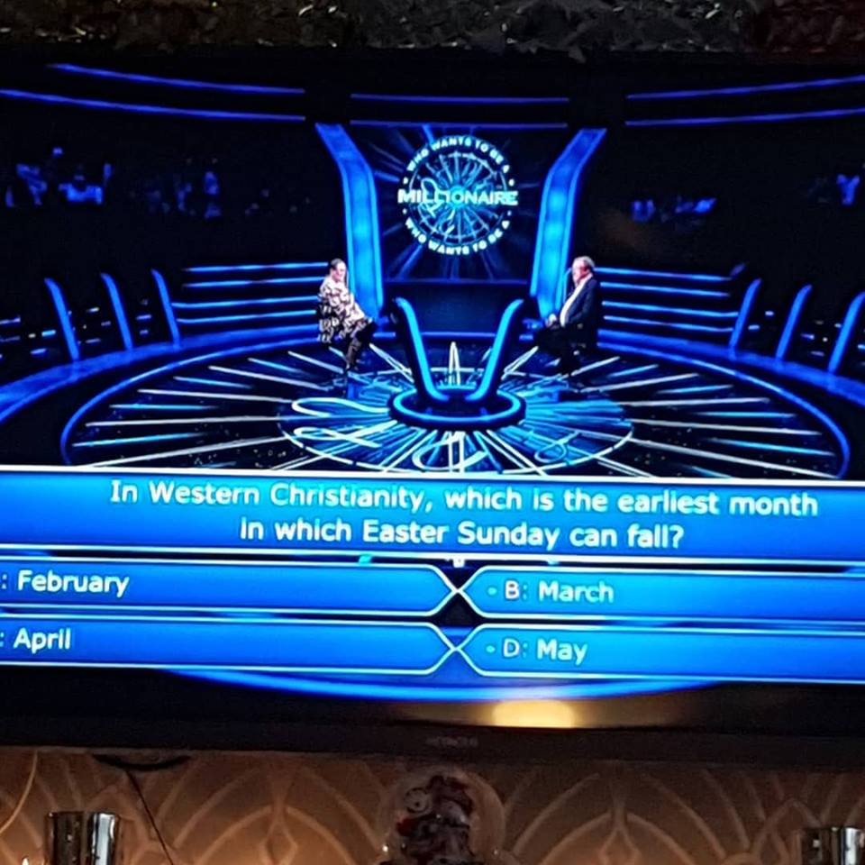 Watching Who wants to be a millionaire