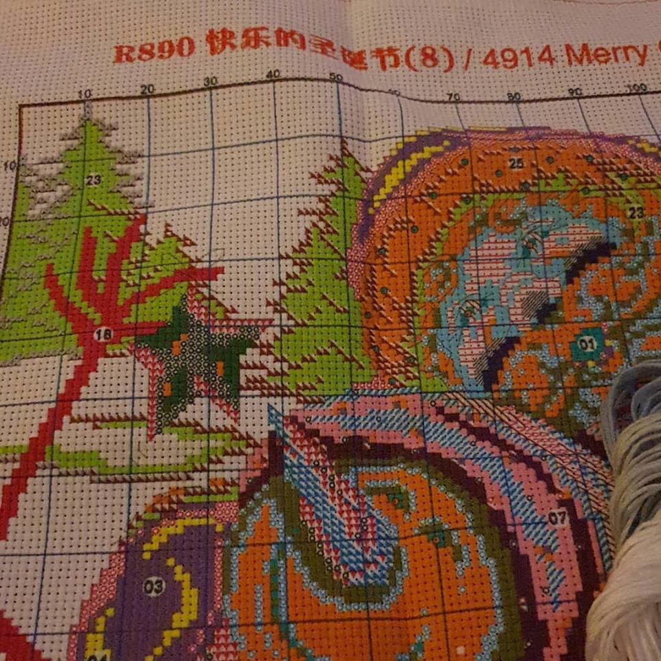 starting a new cross stitch kit
