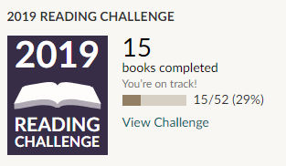 Goodreads 2019 reading challenge 15 books read