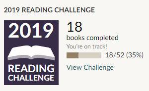 Goodreads 2019 reading challenge 18 books read