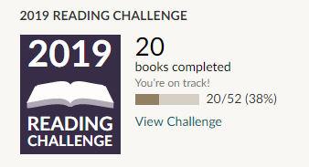 Goodreads 2019 reading challenge 20 books read