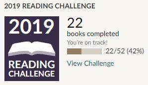 Goodreads 2019 reading challenge 22 books read