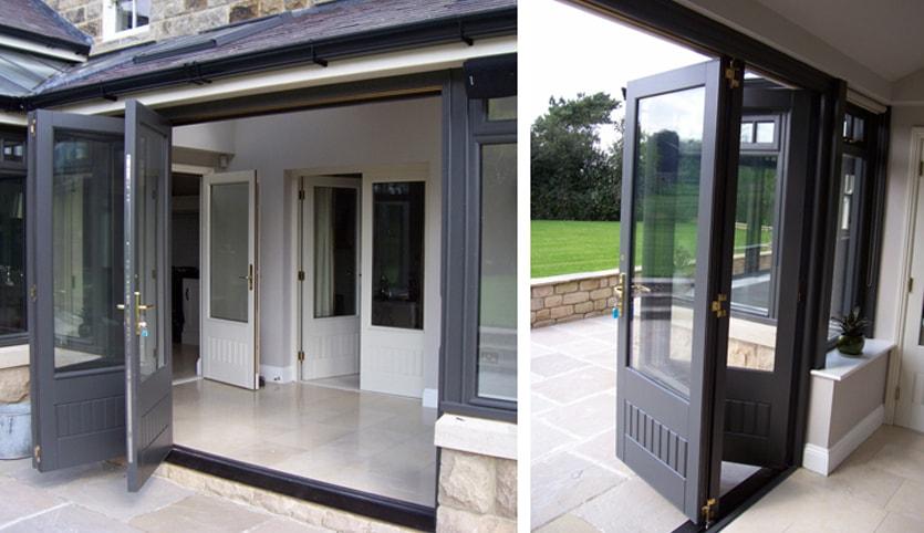 grey bi-fold doors