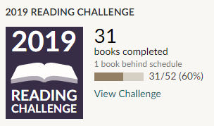 Goodreads 2019 reading challenge 31 books read