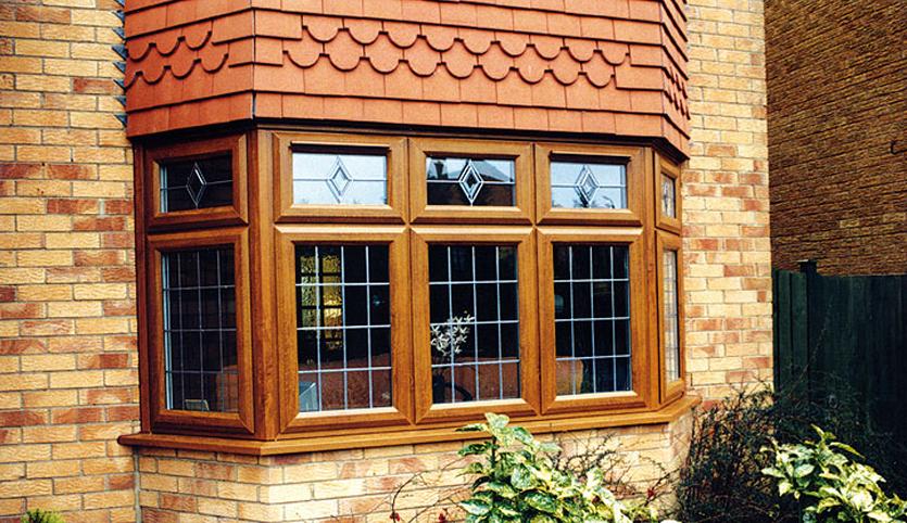Wood effect windows
