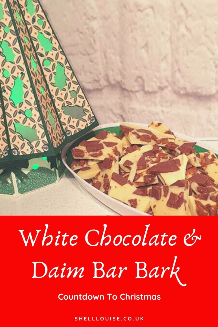 White chocolate and Daim bark