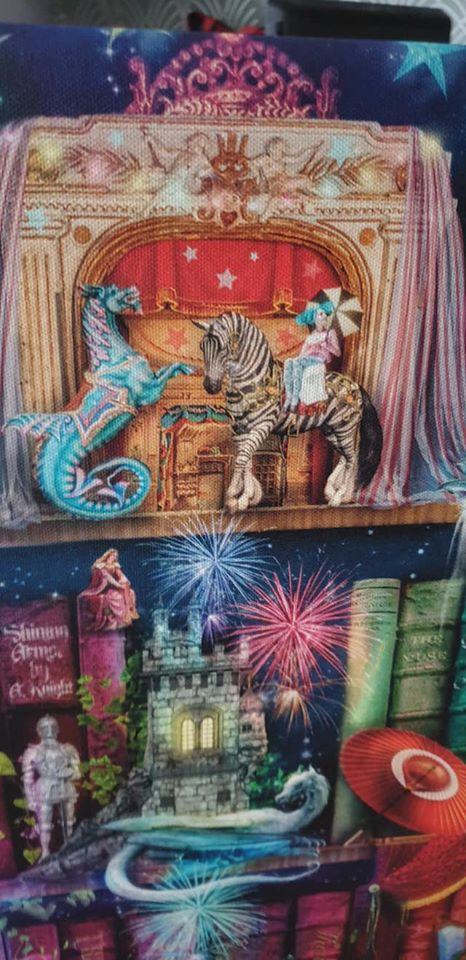 white dragon a knight on the treasure hunt bookcase canvas