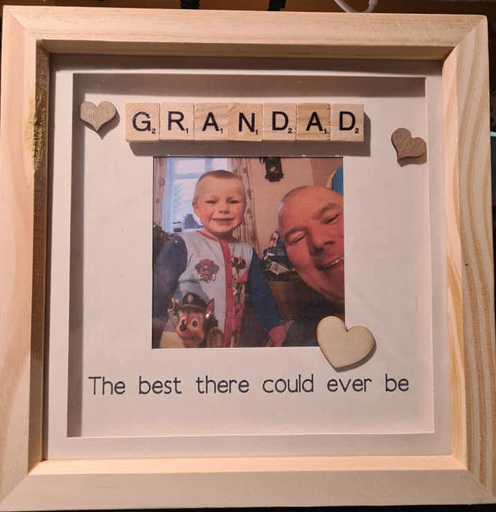 Personalised best grandad 3d shadow box frame