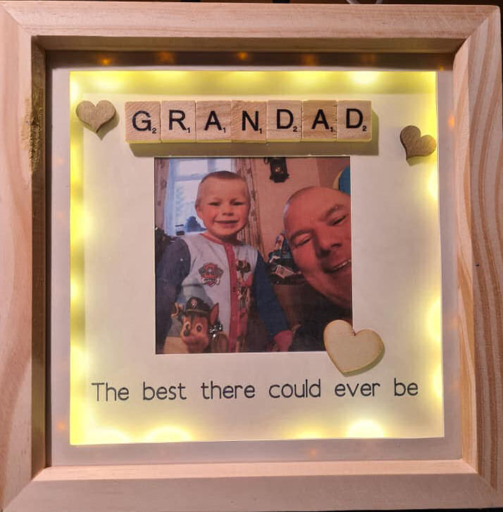 Personalised 3d shadow box best grandad frame with lights